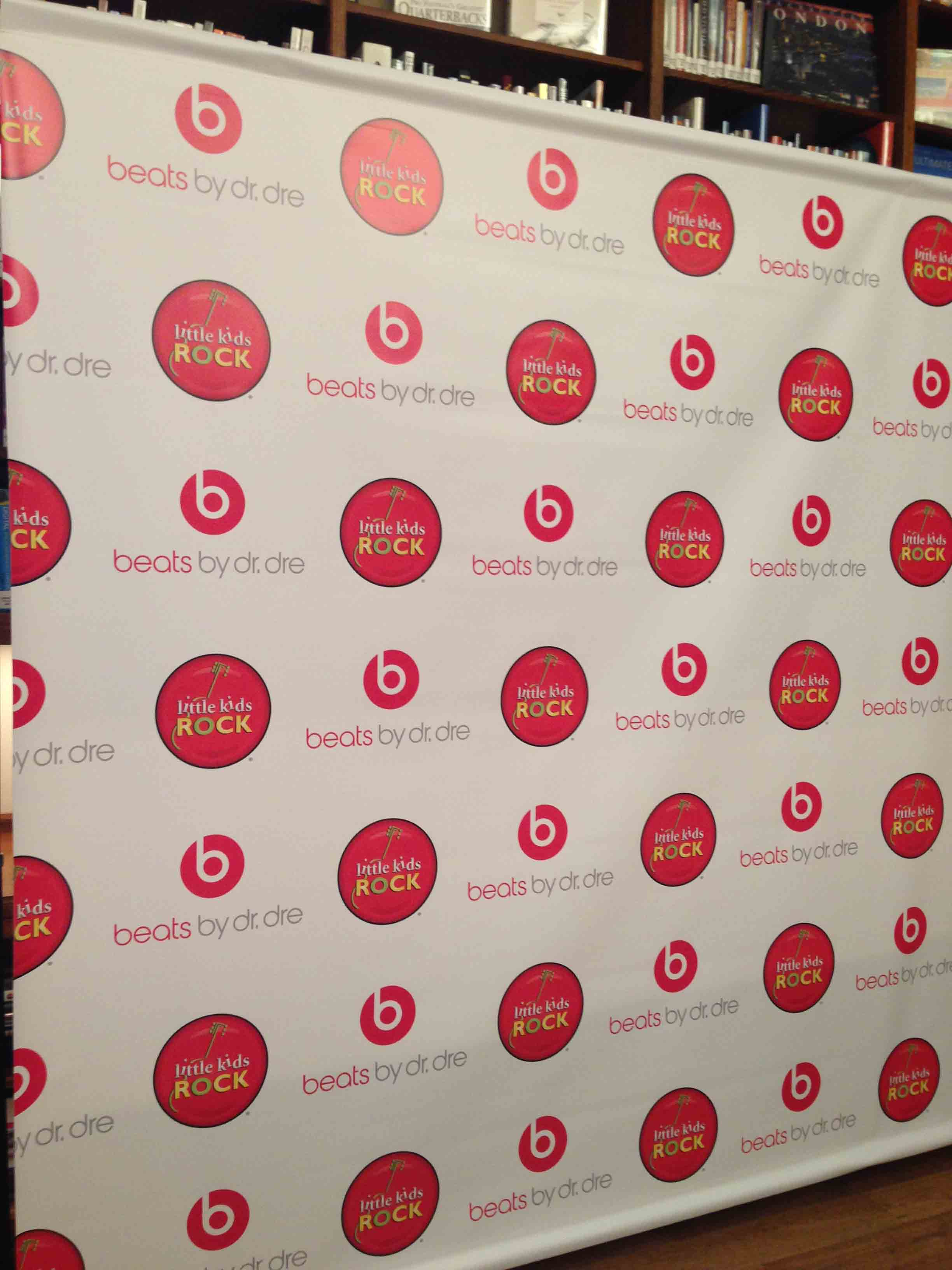 Beats By Dre Step and Repeat Backdrop
